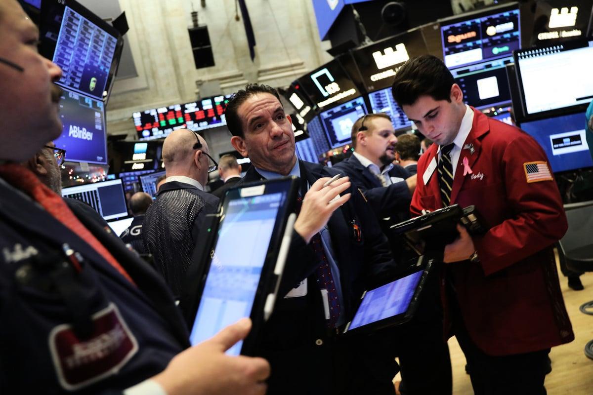 圖為美國紐約證券交易所。(Spencer Platt/Getty Images)