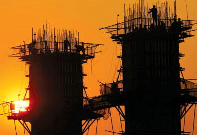圖為重慶某建築工地。(Getty Images)