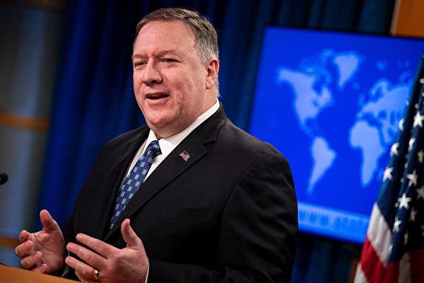圖為美國國務卿蓬佩奧。(Brendan Smialowski/AFP)
