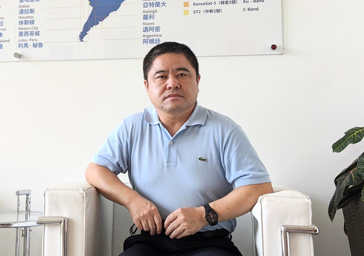 前中國黑龍江省雞西市副市長李傳良2020年8月19日於洛杉磯接受大紀元採訪。(徐繡惠/大紀元)