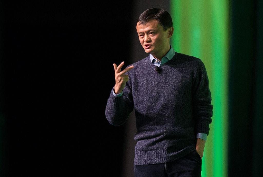 圖為2015年2月,馬雲在香港論壇上講話。(Getty Image)