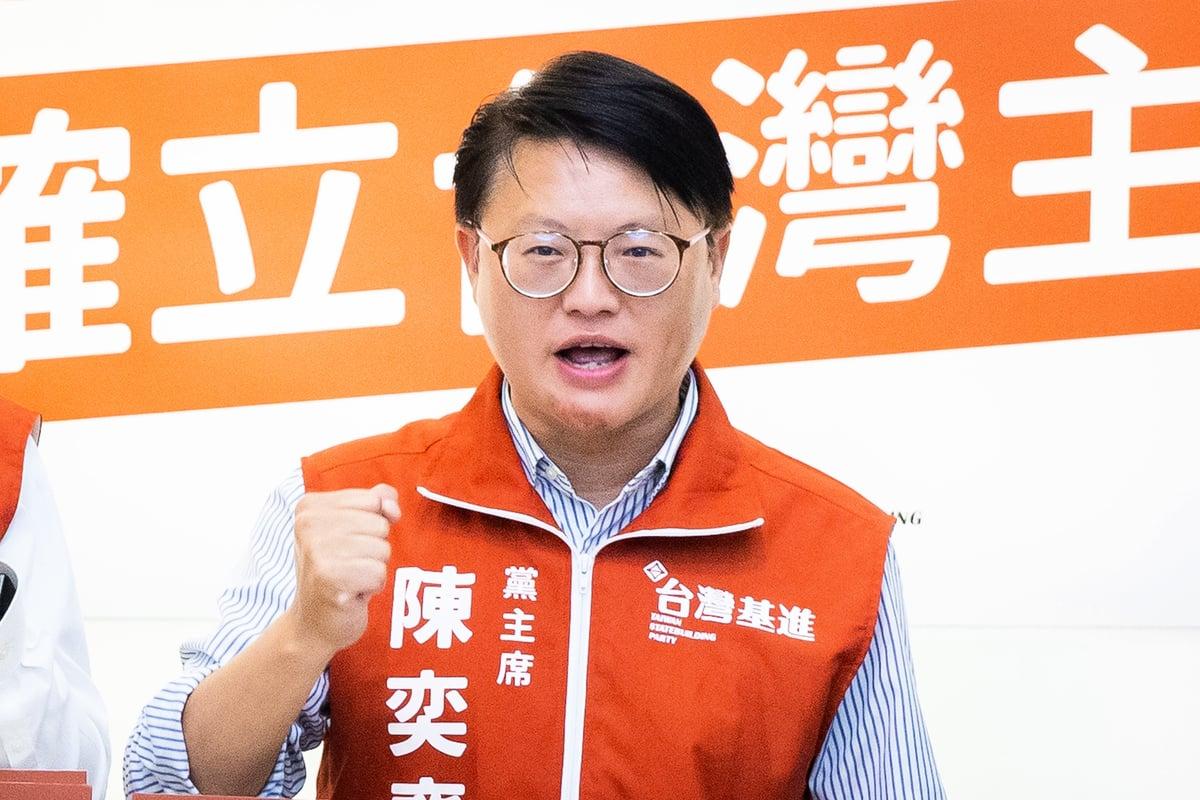 台灣基進黨主席陳奕齊資料照。(陳柏州/大紀元)