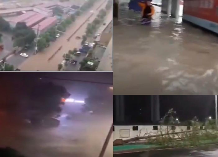 颱風黑格比登陸浙江 多地狂風暴雨積水嚴重