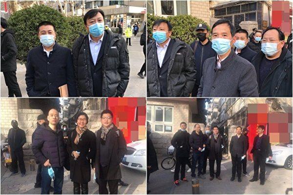王宇、盧思位等數名人權律師到場聲援。