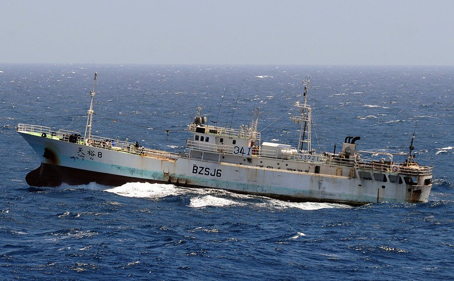 美軍警告:中國漁船四處掠奪 威脅國際海域