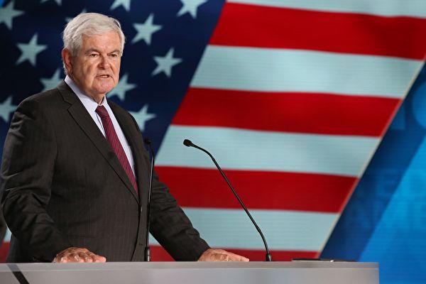 美國前議長紐特‧金里奇(Newt Gingrich)撰文,曝光中共專政發動一場全球範圍的「戰狼式」媒體戰,以掩蓋其在中共病毒傳播中角色。(ZAKARIA ABDELKAFI/AFP/Getty Images)