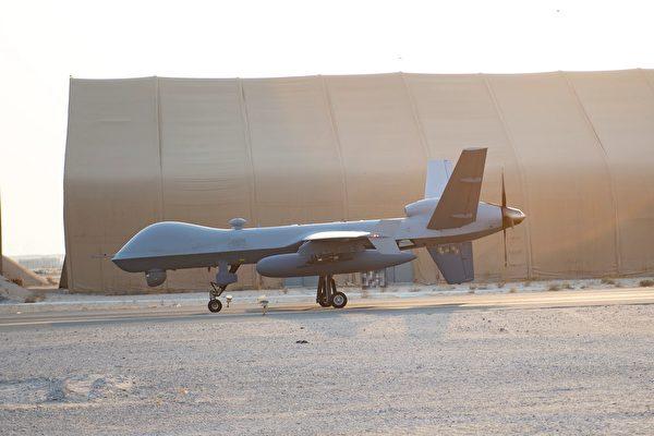 8月20日,美軍的一家MQ-9無人機在科威特阿里塞勒姆空軍基地內。(美國空軍)