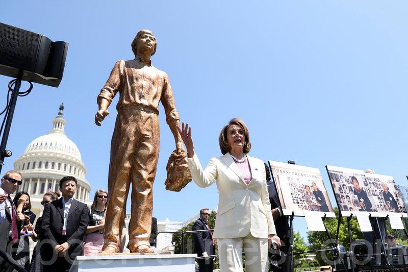 美國眾議院議長佩洛西(Nancy Pelosi)向中共喊話,美國將永遠記得受到迫害的中國民眾。(Samira Bouaou/大紀元)