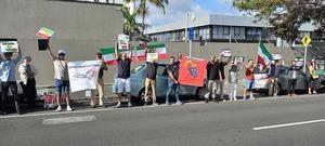 伊朗民眾在奧克蘭中領館抗議  反對中伊協議