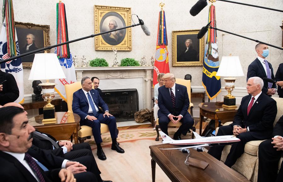 特朗普白宮接見伊拉克總理 兩國發表聯合聲明