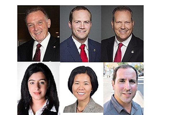 加拿大3級政府的多名國會議員、省議員和市議員發出賀信恭賀法輪大法日。(大紀元合成圖片)