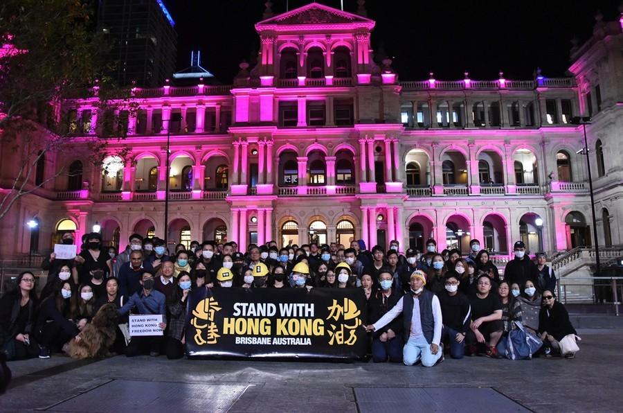 昆士蘭人遊行集會 聲援香港爭取真雙普選