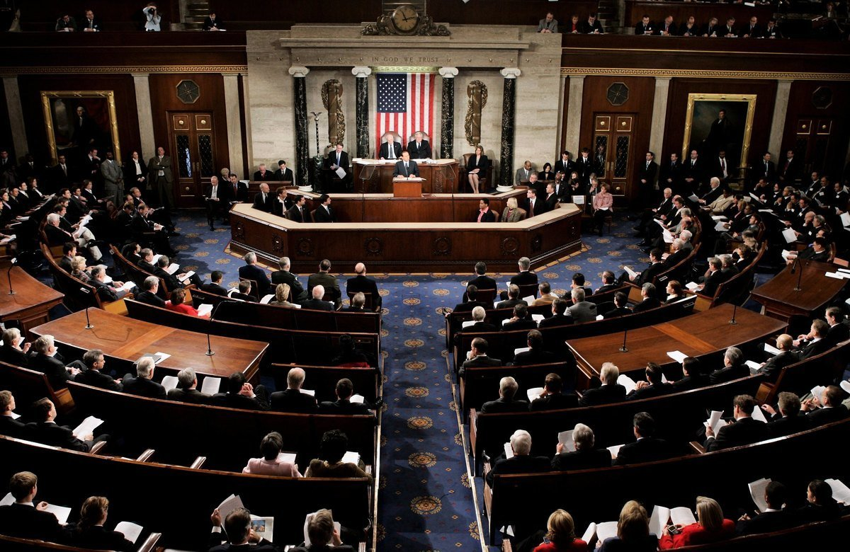 美國眾議院12月3日晚間辯論並通過了《2019年維吾爾人權政策法案》(The Uighur Act of 2019)。圖為眾議院議場。(Mark Wilson/Getty Images)