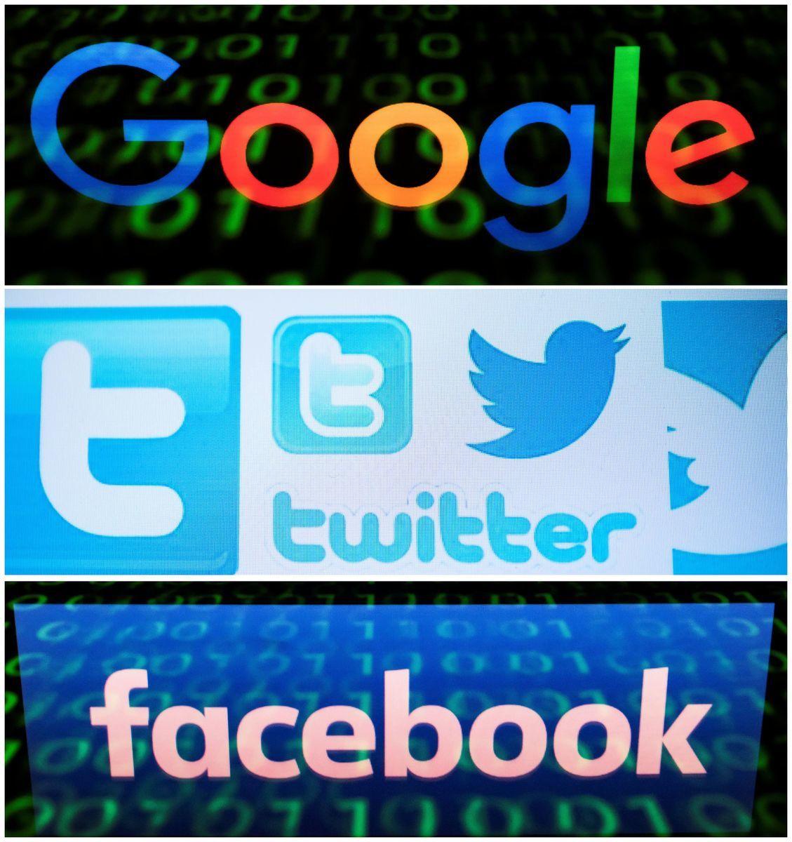 推特、面書、YouTube等社群媒體被指在審查用戶的言論和資料。(LIONEL BONAVENTURE,NICOLAS ASFOURI/AFP via Getty Images)