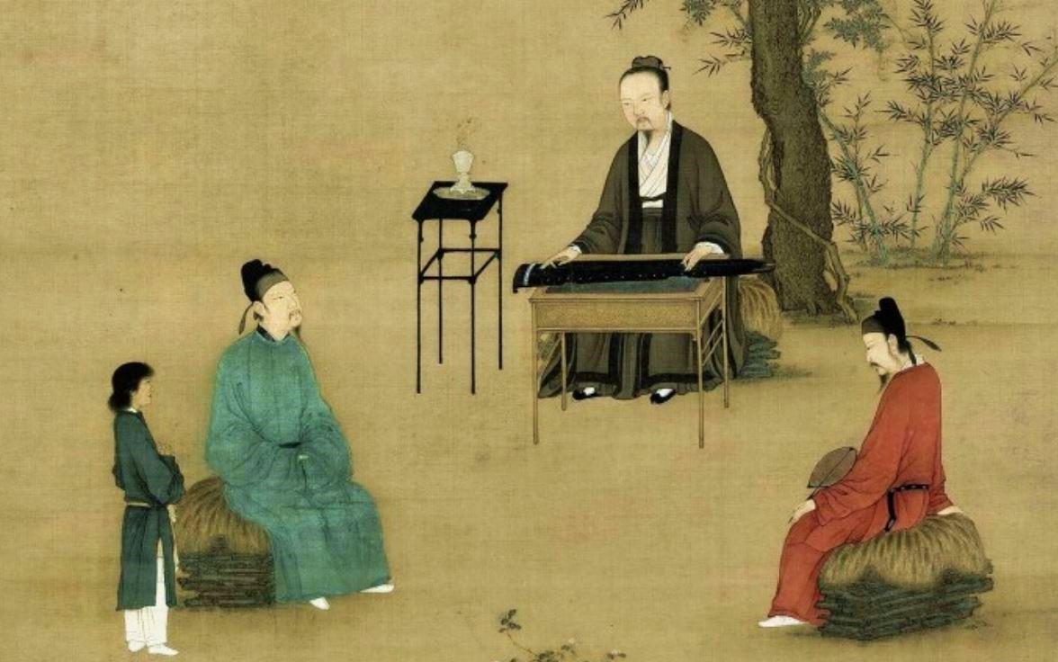 玄宗兄弟幾人對音樂都頗有研究,尤其是李憲,他甚至可以通過音樂預言時事。示意圖,圖為宋 趙佶《聽琴圖》局部。(公有領域)