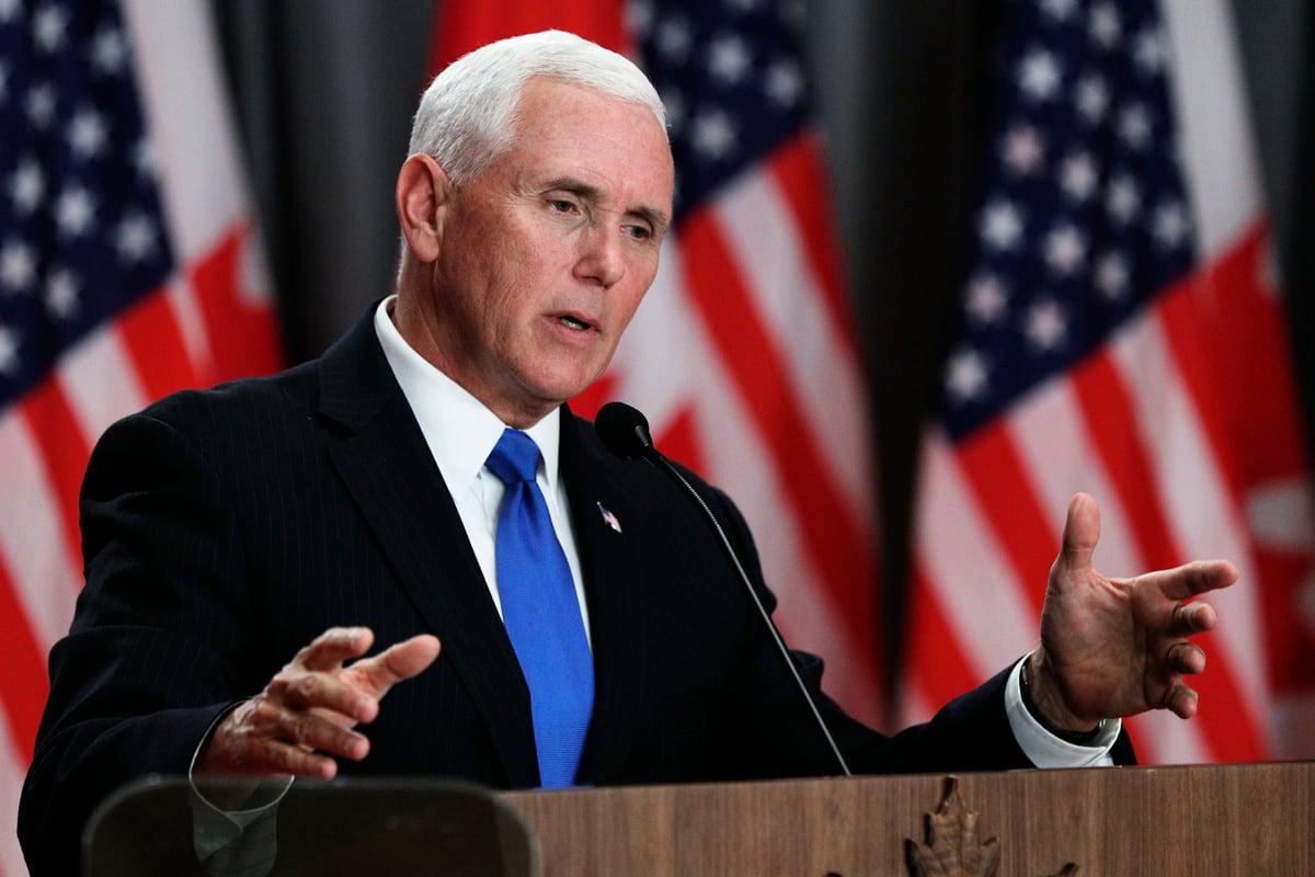 彭斯7月10日在加州表示美國一直在致力於維護全世界的宗教自由,而「中國(政府)必須改變」,融入「國際大家庭」。圖為彭斯資料圖片。(Lars Hagberg / AFP)