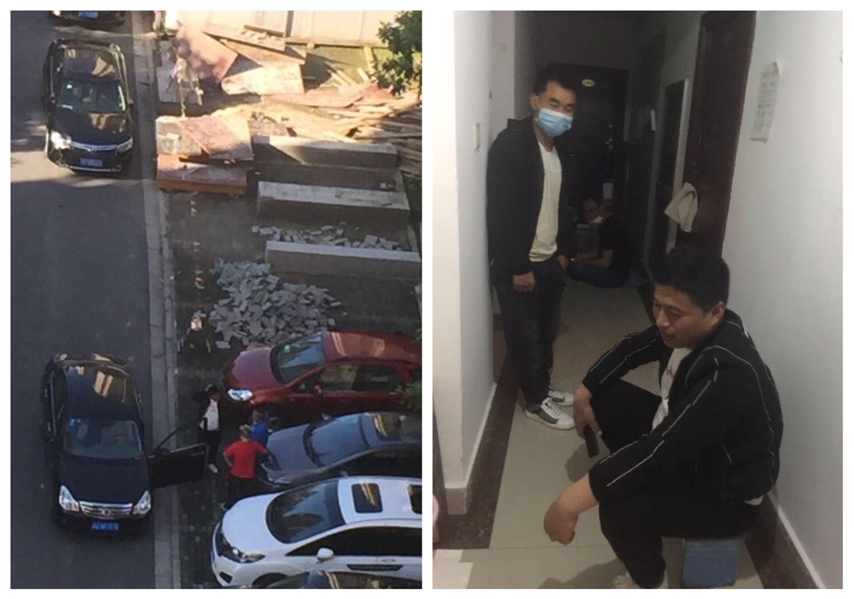 兩會期間,上海閔行區訪民童莉雅被穩控在家連續多日無法外出配藥、買菜,向外界求助。(大紀元合成圖)
