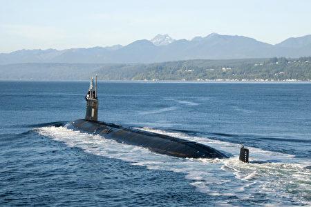美國、英國將助澳洲打造核動力潛艦。圖為美軍的核潛艦。(美國太平洋艦隊Flickr)