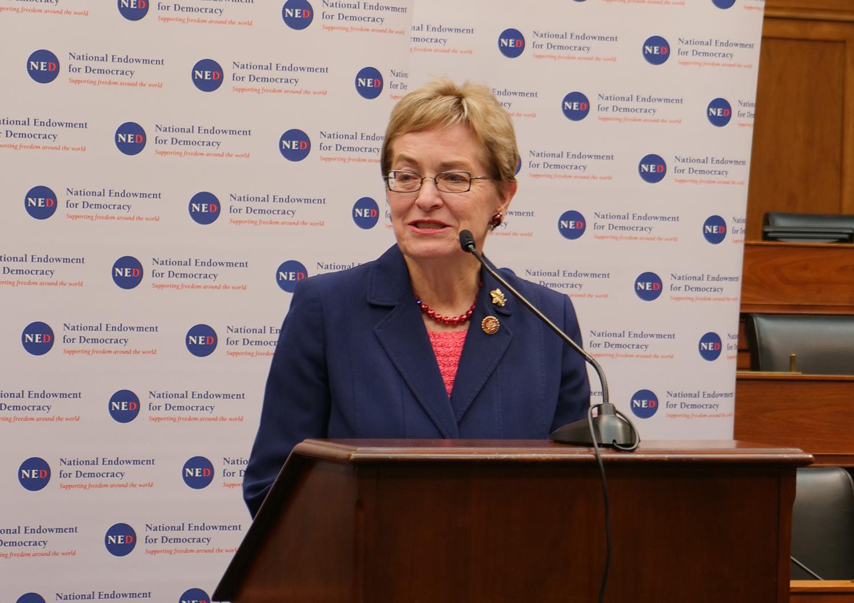 美國聯邦眾議員瑪西·卡普特(Marcy Kaptur)。(大紀元圖片)