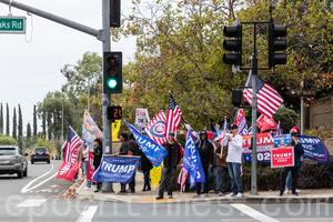 【組圖】聖地牙哥選民:聲援特朗普到最後