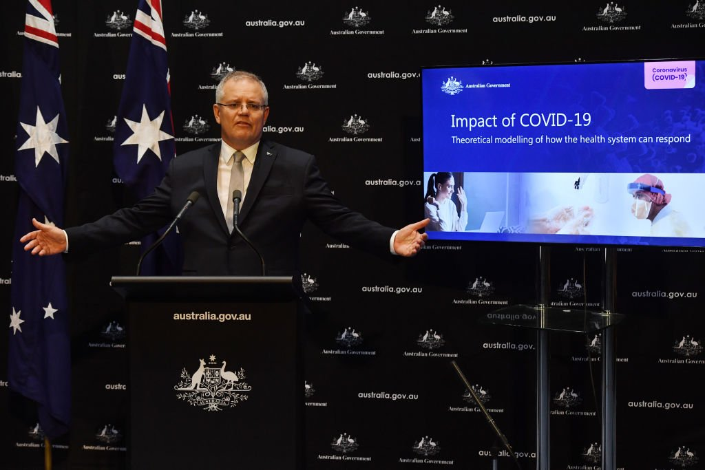 澳洲總理莫里森(Scott Morrison)對外長佩恩(Marise Payne)發起的對中共病毒禍延全球的國際性獨立調查的呼籲表示大力支持。(Getty Images)