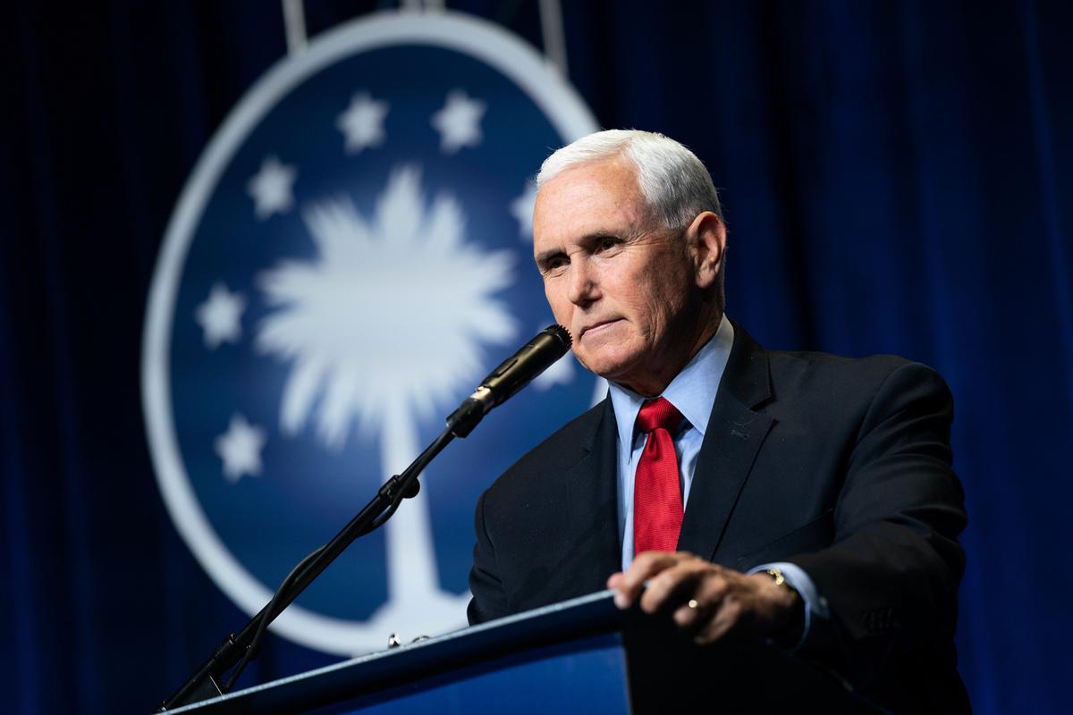 前美國副總統邁克‧彭斯(Mike Pence)。(Sean Rayford/Getty Images)