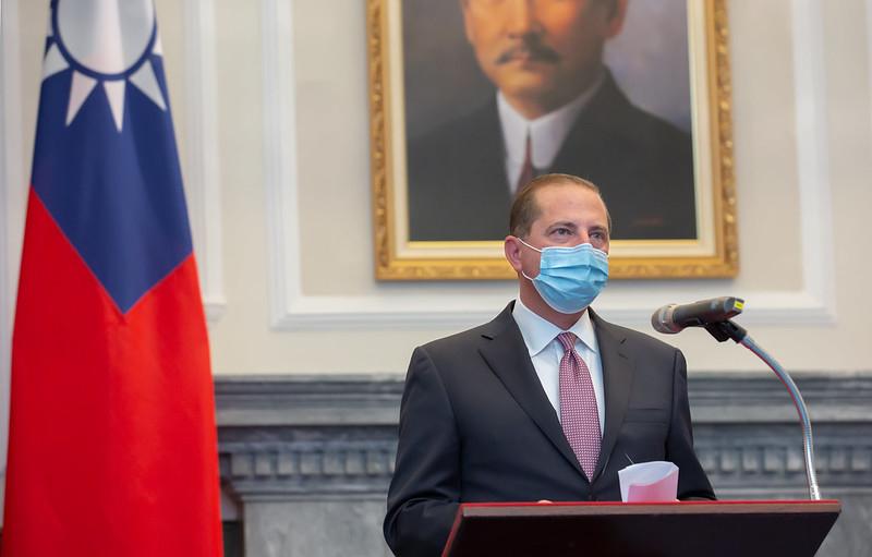 美國衛生部長阿扎(Alex Azar)率團訪台,美台雙方8月10日正式簽下「醫衛合作了解備忘錄」,圖為資料照。(總統府提供)