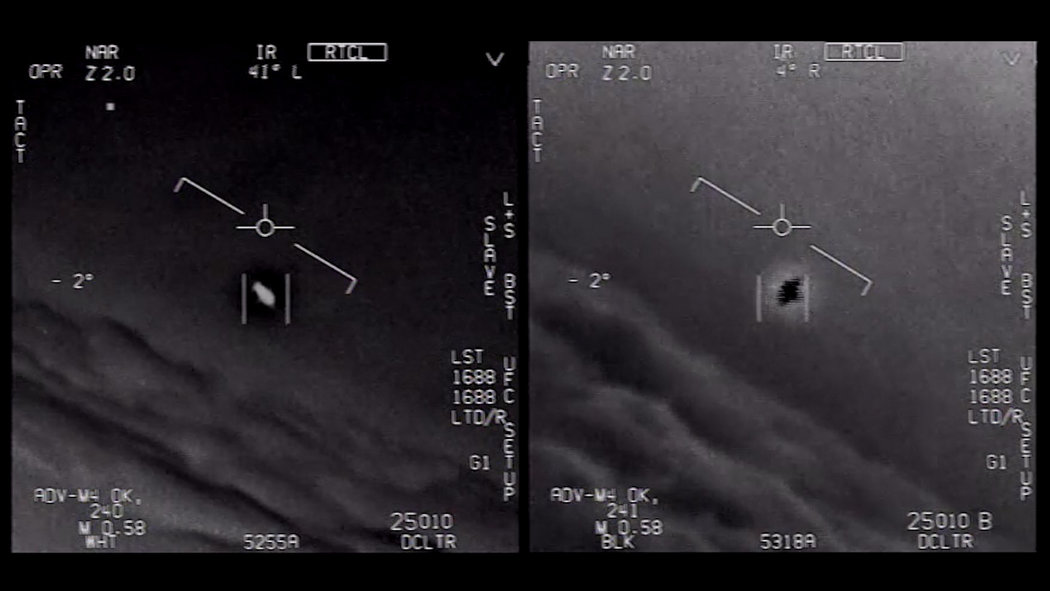 長期以來,美國政府一直對在該國軍事基地上空飛行的UFO進行研究。美國國防部2020年4月公佈了3段經證明屬實的觀測影片。(美國國防部)