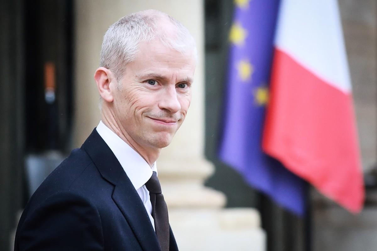 截至2020年3月18日,法國政壇共有21名政要感染中共病毒。圖為文化部長法蘭克·里斯特(Franck Riester)是其中之一。 (LUDOVIC MARIN/AFP via Getty Images)
