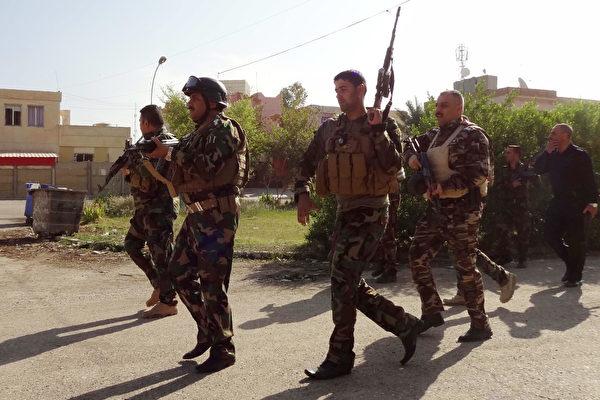 伊拉克安全部隊已擊退鎖定基爾庫克展開突襲的伊斯蘭國(IS)武裝份子,周六已再次完全掌控這座位于伊拉克北方的產油城。(MARWAN IBRAHIM/AFP/Getty Images)