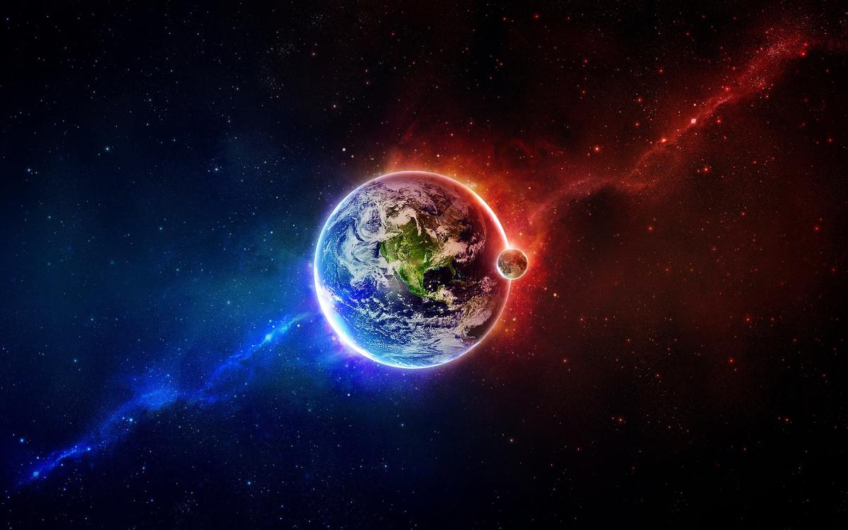 地球及月球在浩瀚宇宙空間中的概念圖。(ShutterStock)
