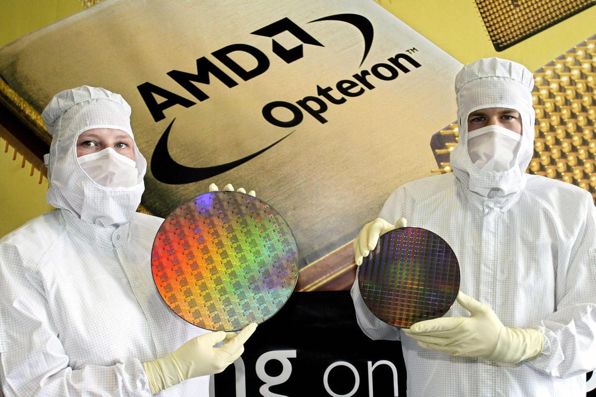 5月27日,全球第二大晶片製造商(AMD)高管表示,未來不再將技術轉移給中國合資夥伴。(NORBERT MILLAUER/AFP/Getty Images)