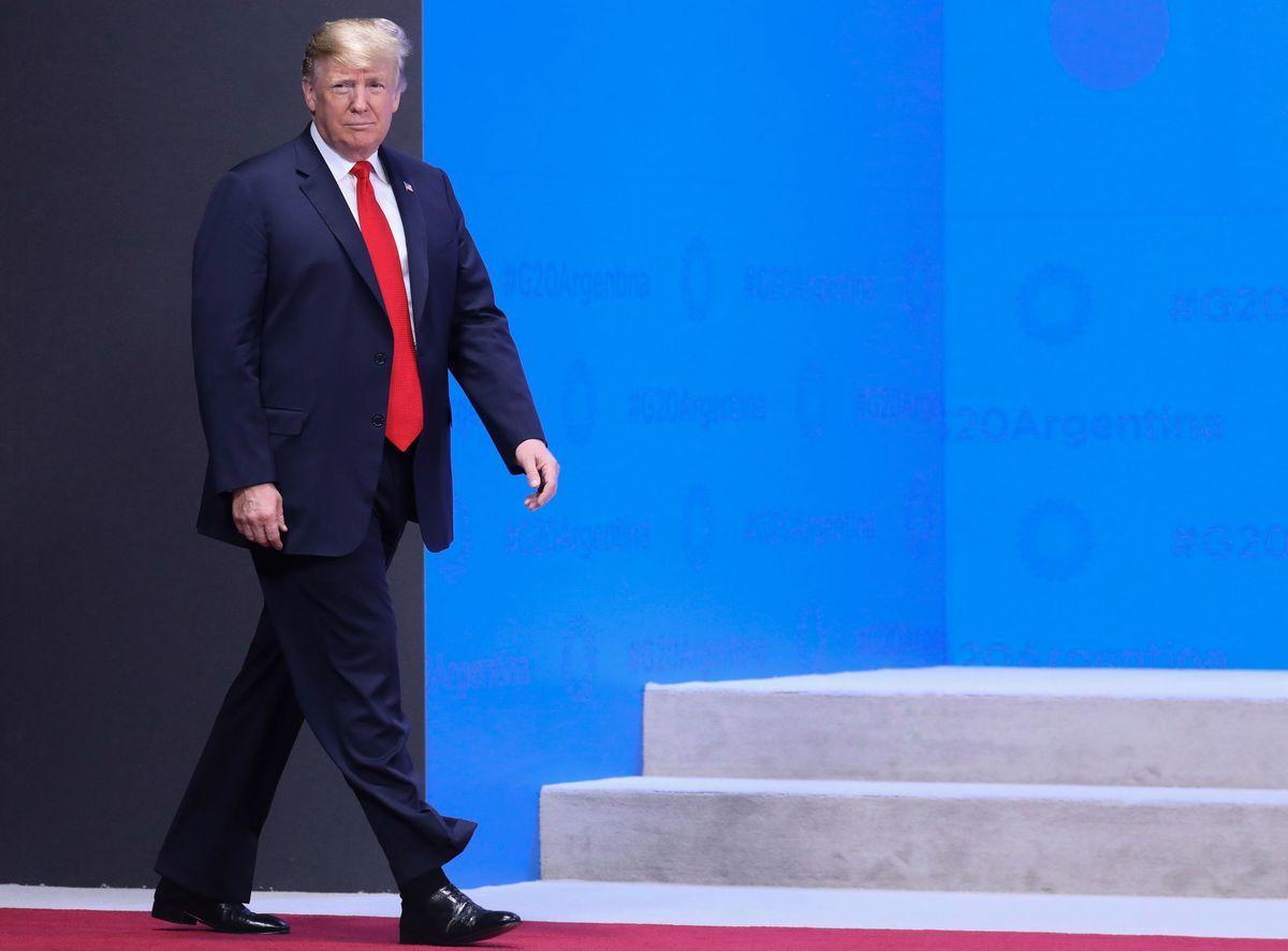 特朗普參加在阿根廷舉行的G20峰會。(LUDOVIC MARIN/AFP/Getty Images)