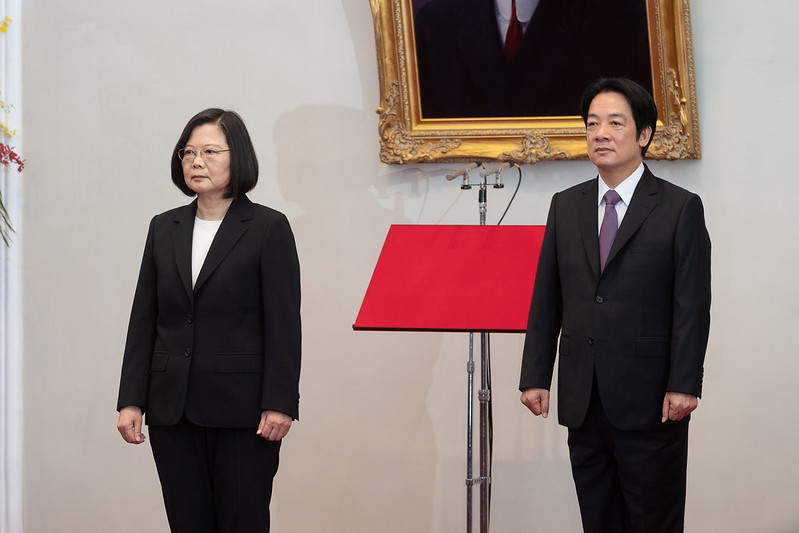 中華民國第15任總統、副總統就職典禮於總統府及台北賓館舉行。(總統府提供)