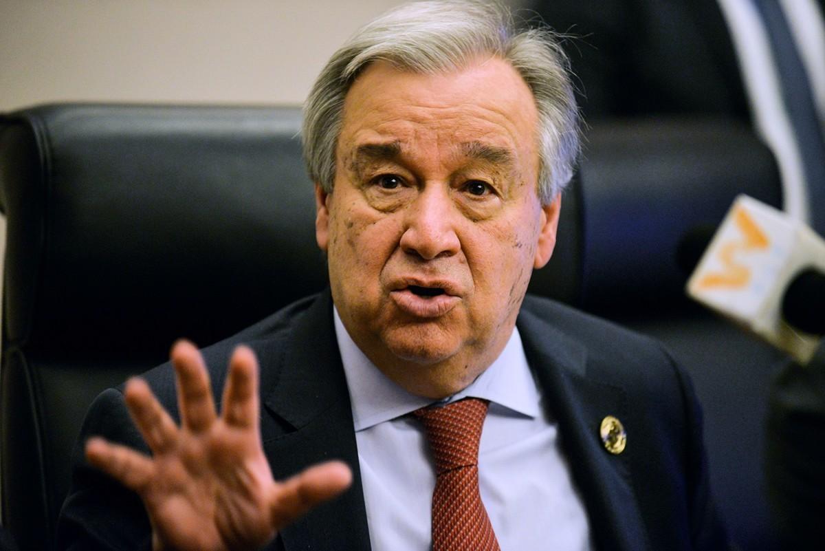聯合國秘書長古特雷斯(Antonio Guterres)周四(28日)警告,病毒大流行展現了世界的脆弱性,若沒有立即回應,世界上恐出現歷史性的饑荒。(MICHAEL TEWELDE/AFP via Getty Images)
