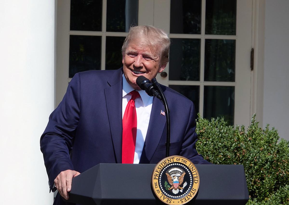 7月29日,特朗普總統在白宮重申,將繼續努力制止邪惡,阻止暴力,保護所有美國人的安全。(亦平/大紀元)