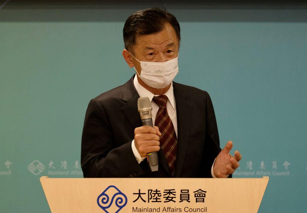 陸委會主委邱太三資料照。(SAM YEH/AFP via Getty Images)