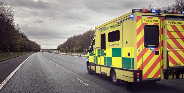 救護車示意圖。(Shutterstock)