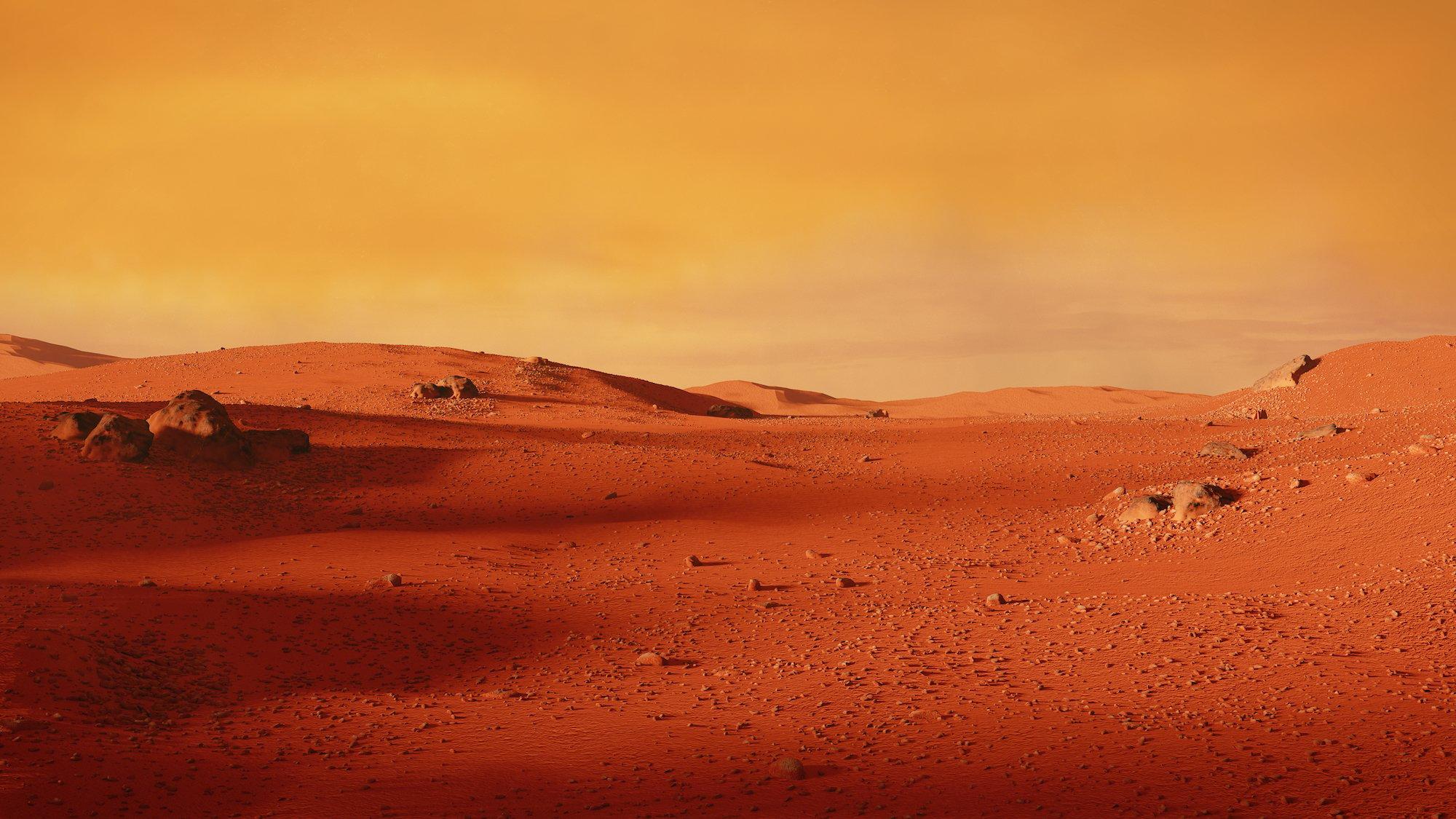 火星表面示意圖。(ShutterStock)