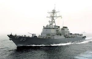 蔡英文下周就職 美驅逐艦再穿越台灣海峽