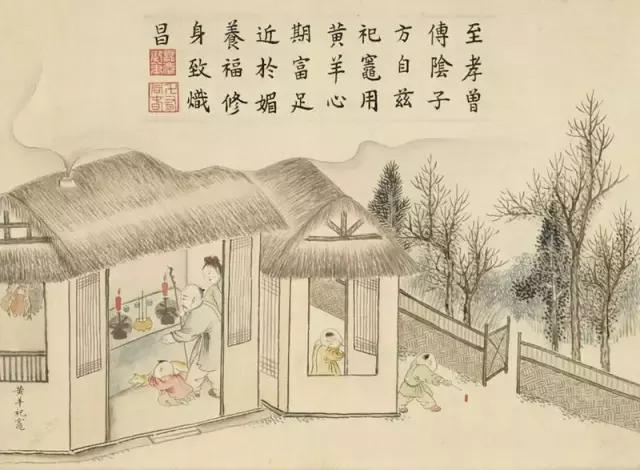 圖為清黃鉞《畫龢豐協象》第五幅《黃羊祀灶》,台北國立故宮博物院藏。(公有領域)