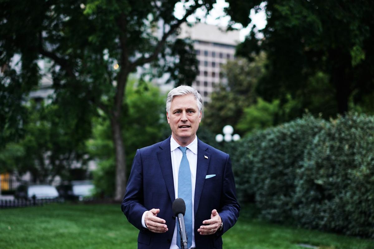 圖為白宮國家安全顧問奧布萊恩資料照。(Photo by MANDEL NGAN / AFP)