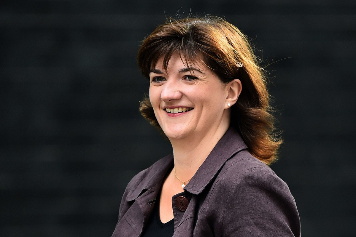 英國數碼化、文化、媒體和體育大臣莫麗琪(Nicky Morgan)。(BEN STANSALL/AFP)