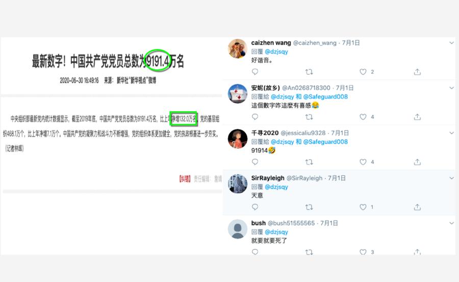 中共公佈黨員人數 網民調侃背後的「天意」