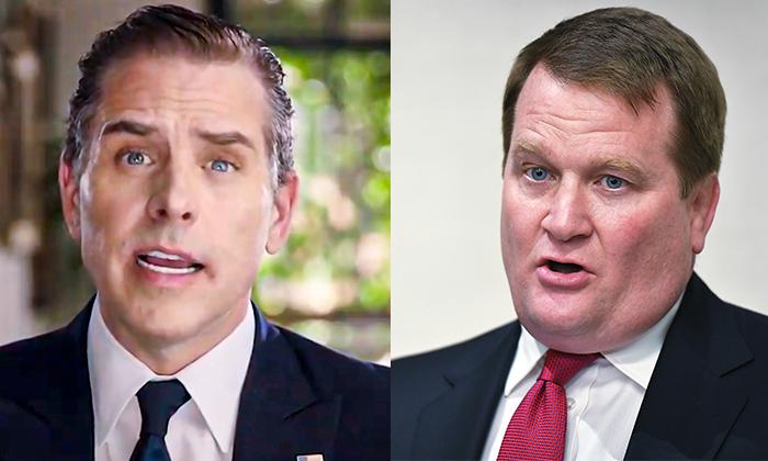 民主黨總統候選人喬·拜登的兒子亨特·拜登(左)和其前商業夥伴托尼·波布林斯基。(Mandel Ngan/AFP via Getty Images/DNCC via Getty Images)
