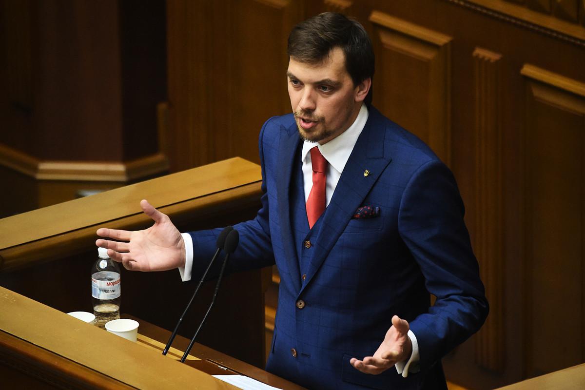 35歲的律師奧雷克.岡察魯克(Oleksiy Goncharuk)出任烏克蘭新政府總理。(SERGEI SUPINSKY/AFP)