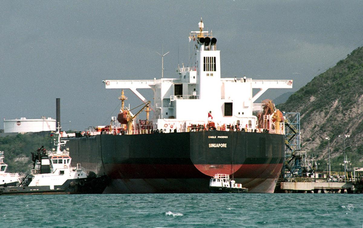 美國財政部(U.S. Treasury Department)於周五(2月1日)表示,美國以外的實體務必在4月28日之前停止從委內瑞拉國有原油公司(Petroleos de Venezuela SA,PdVSA)購買石油和石油產品。圖中為PdVSA在多米尼加共和國的原油罐。(Richar Rondon-El Tiempo/Getty Images)