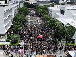 【9.2反送中組圖】中文大學百萬大道罷課集會