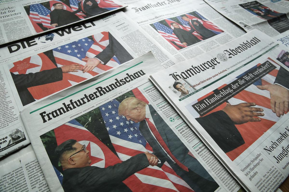 2月底,第二次特金會將在越南河內舉行。一名美國官員透露,特朗普政府正在考慮美朝互設聯絡處的計劃,以作為推動朝鮮半島無核化及美朝雙邊關係正常化的一部份。 (Sean Gallup/Getty Images)
