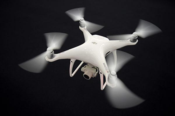 英媒報導稱,出於對中共的間諜擔憂,川普政府正計劃停止一個無人機項目。圖為大疆製造的無人機。(AFP)